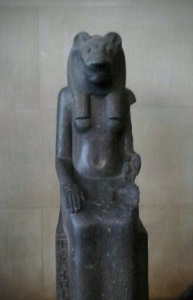 Statue of Egyptian Goddess Sekmet at The Metropolitan Museum of Art, NYC